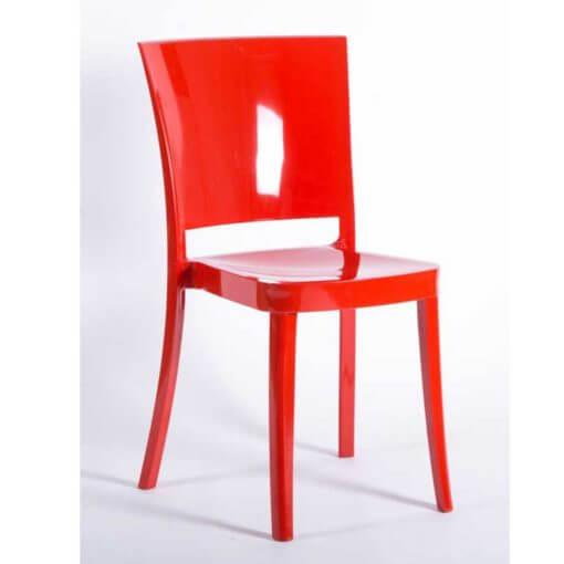 sedia rossa in policarbonato
