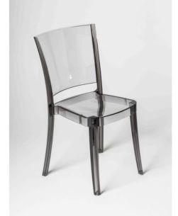 sedia in policarbonato Fumè