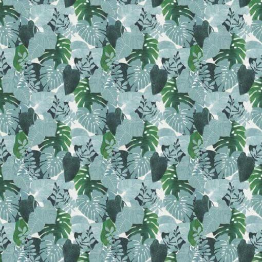 Tovaglia quadrata 4004/02 foglie tropicali verdi
