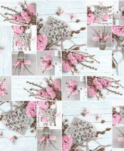 Tovaglia giacinti rosa 5019/01
