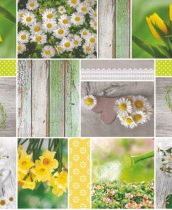 Tovaglia multicolor garden margherite 6004/01