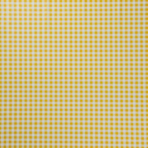 tovaglia al metro con fantasia quadretto giallo