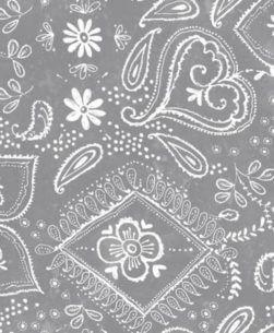 tovaglia plastificata fantasia bandana grigio