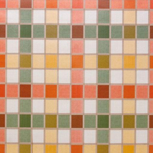 tovaglia al metro fantasia quadri multicolor