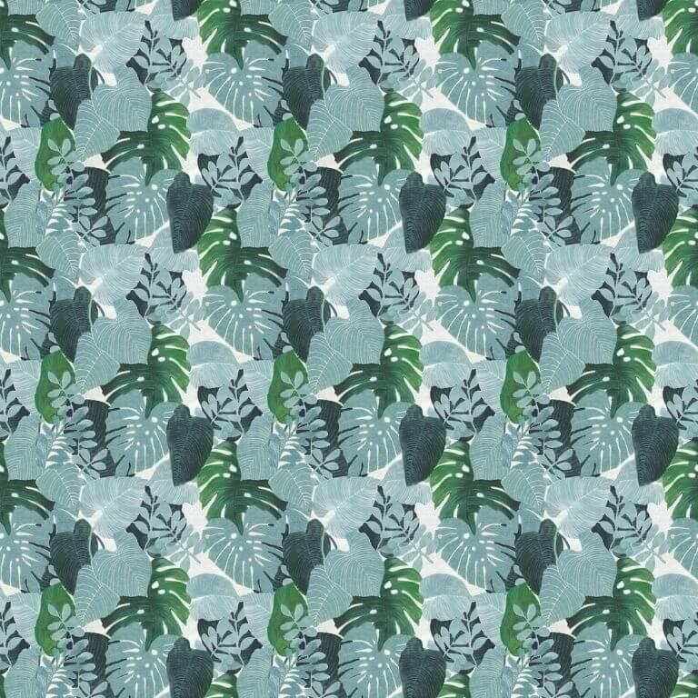 Rotolo Tovaglia in Plastica - Foglie Verdi Tropicali - 140 cm x 20 m - Bottigelli