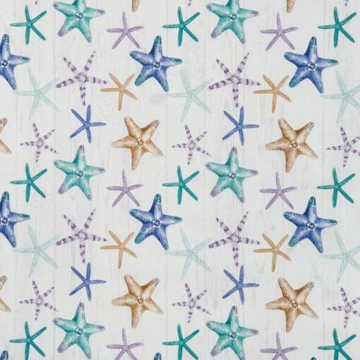tovaglia al metro antimacchia con stelle marine