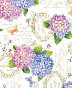 mollettone per tavolo ortensie multicolor
