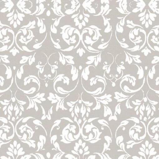 tovaglia metro con fantasia ramage ornamentale grigio/bianco