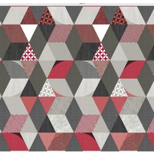 tovaglia al metro cubi tessili rosso