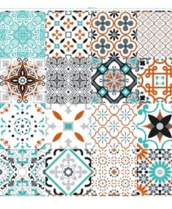 tovaglia al metro fantasia Taormina piastrelle multicolor