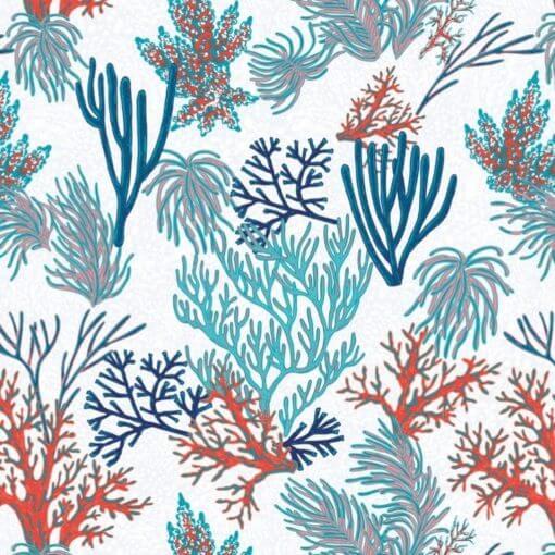 tovaglia al metro fantasia coralli