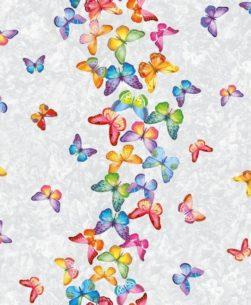 tovaglia rotolo con fantasia farfalline in volo