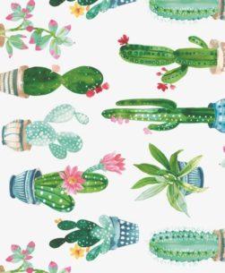 tovaglia rotolo con fantasia cactus