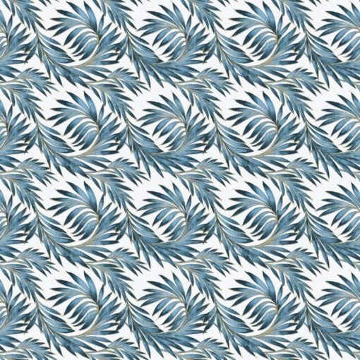 tovaglia rotolo fantasia foglie blu