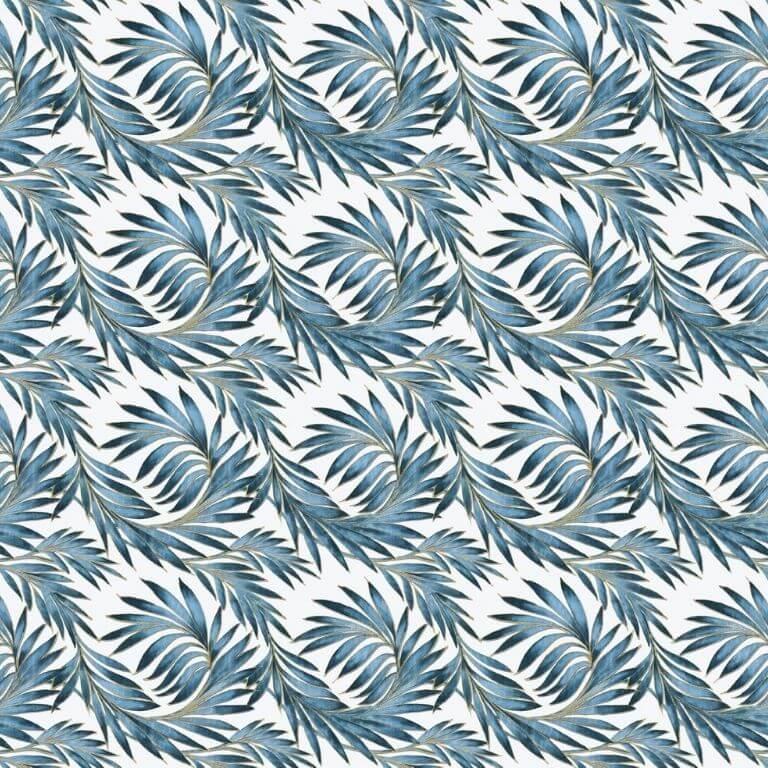 Rotolo Tovaglia in Plastica - Foglie Blu - 140 cm x 20 m - Bottigelli