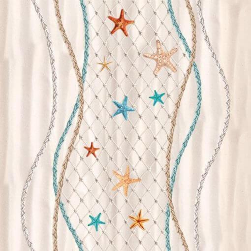 tovaglia in plastica con fantasia marino con rete