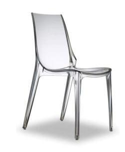 sedia trasparente in policarbonato Vanity Chair